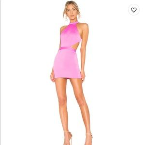 NBD Dresses - REVOLVE Fushia Cocktail Cut Out Dress